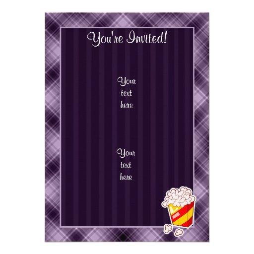 Pipoca roxa convites personalizados