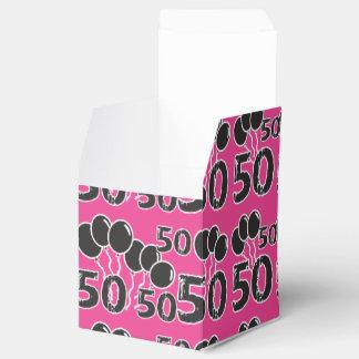 PIQUE a 50th caixa do favor de festa de