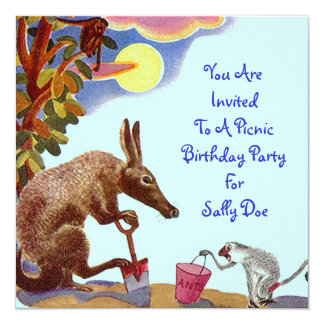 Piquenique do convite de aniversário do Anteater