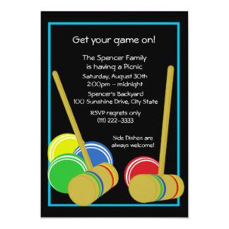 Piquenique do Croquet/ Convites Personalizado