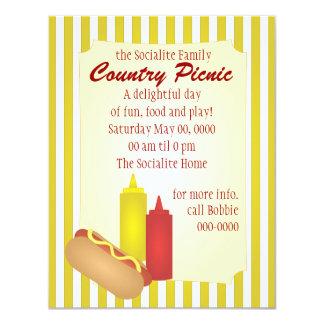 Piquenique do Hotdog Convite 10.79 X 13.97cm
