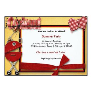 Piquenique do verão convite 12.7 x 17.78cm