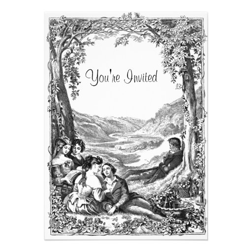 Piquenique do Victorian Convite Personalizado