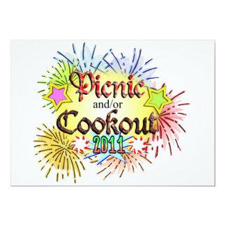 Piquenique e/ou Cookout 2011 Convite 12.7 X 17.78cm