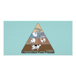 Pirâmide de comida de Meatatarian Cartão Com Foto