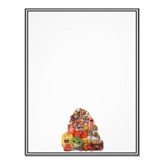Pirâmide de comida lixo Freaky Panfletos Personalizados