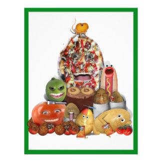 Pirâmide de comida lixo Freaky Panfleto