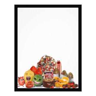 Pirâmide de comida lixo Freaky Panfleto Coloridos