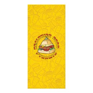 Pirâmide de comida mais saudável 10.16 x 22.86cm panfleto