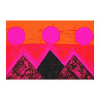 Pirâmides de outros mundos na laranja cor-de-rosa