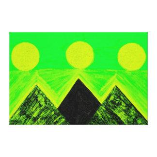 Pirâmides de outros mundos no amarelo verde C1 SDL