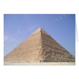 Pirâmides do cartão vazio de Egipto