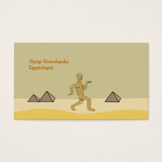 Pirâmides egípcias da mamã dos desenhos animados cartão de visitas