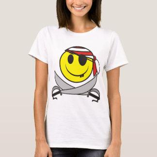 Pirata 01 do smiley camiseta