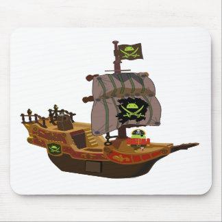 Pirata Andy em um navio Mousepad