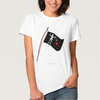 Pirata Blackbeard, lixívia Roger alegre de Edward T-shirts
