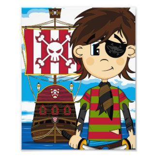 Pirata bonito do Eyepatch e impressão da foto do n Impressão De Foto
