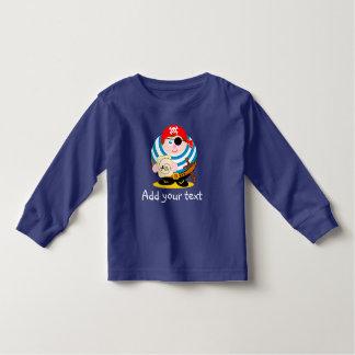 Pirata bonito dos desenhos animados do camiseta infantil