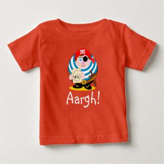 Pirata bonito dos desenhos animados do camiseta para bebê