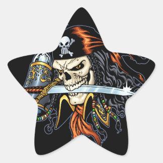 Pirata do crânio com espada e gancho pelo Al Rio Adesito Estrela
