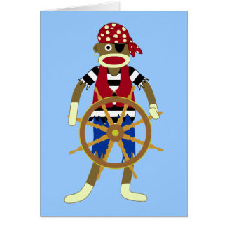 Pirata do macaco da peúga cartão