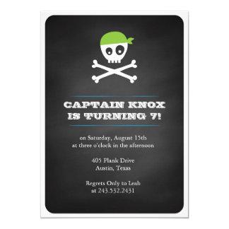 Pirata do quadro convite 12.7 x 17.78cm