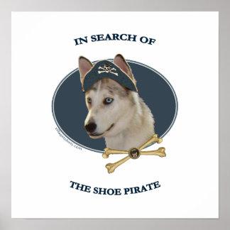 Pirata dos calçados do cão de Ausky Pôsteres
