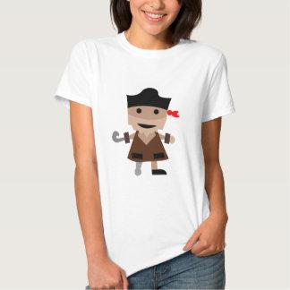 pirata-líder (branco) t-shirts