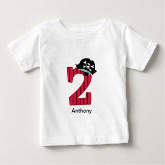 Pirata número 2 camiseta para bebê