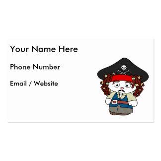 Pirata pateta dos desenhos animados cartão de visita