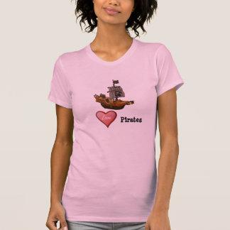 Piratas do amor camisetas