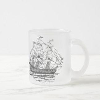Piratas do vintage, esboço de um navio de arma 74 canecas