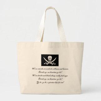 PirateLife, saco Sacola Tote Jumbo