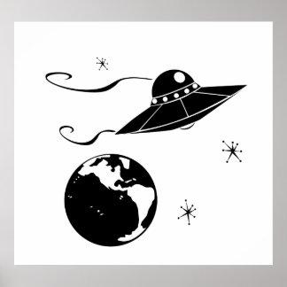 Pires de vôo preto e branco poster