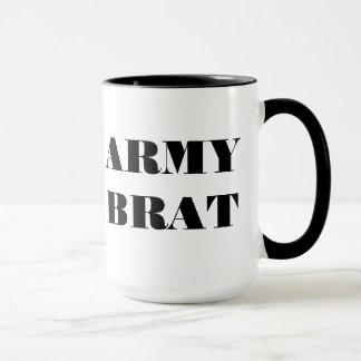 Pirralho do exército da caneca