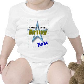 Pirralho do exército do bebê macacãozinho para bebê