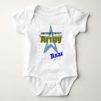 Pirralho do exército do bebê t-shirt