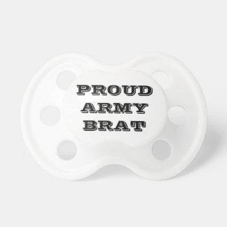 Pirralho orgulhoso do exército do Pacifier Chupeta