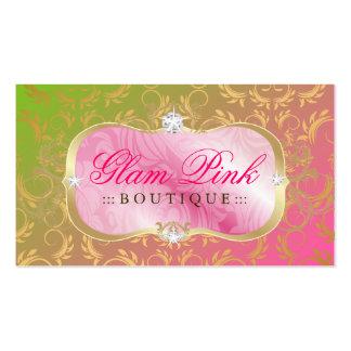 Pirulito divino dourado da bandeja 311 cor-de-rosa cartões de visita