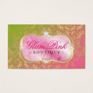 Pirulito divino dourado da bandeja 311 cor-de-rosa cartão de visitas