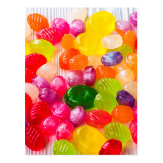 Pirulito doce colorido da comida dos doces cartão postal