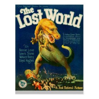 Pisando o tiranossauro cartão postal