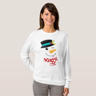 Pisc a camisa do boneco de neve T