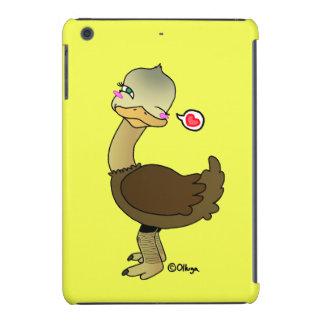 Piscar os olhos bonito da avestruz capa para iPad mini retina