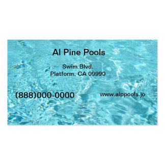 Piscina azul cartão de visita