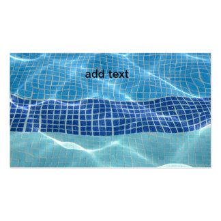 piscina da em-terra modelo cartões de visitas