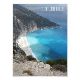 Piscina da ilha de Kefalonia da praia da baía de Foto
