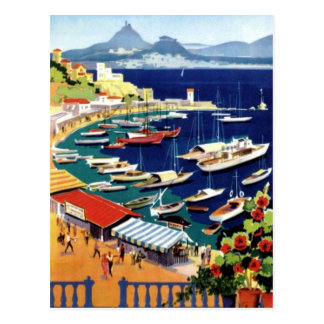 Piscina de Atenas das viagens vintage Cartão Postal