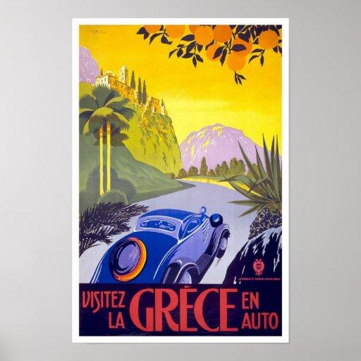 Piscina do poster das viagens vintage pôster