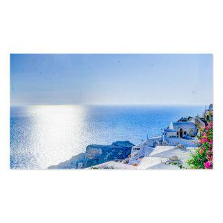 piscina do verão do santorini de oia-417822 cartões de visitas